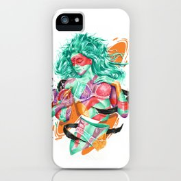 DELPHINA iPhone Case
