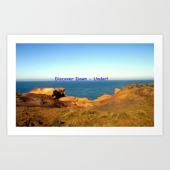 Discover Down - Under! Art Print