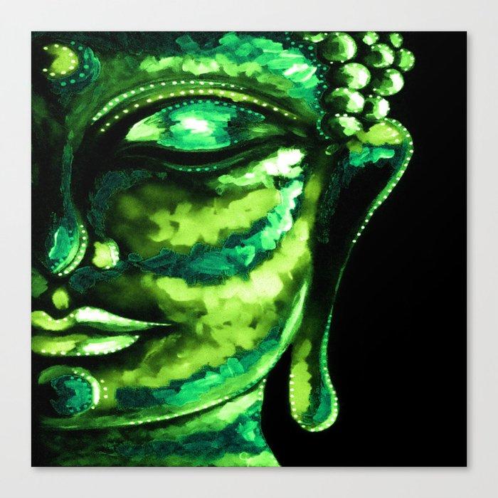 GREEN BUDDHA PAINTING Leinwanddruck