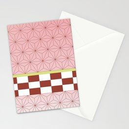 nezuko pattern Stationery Cards