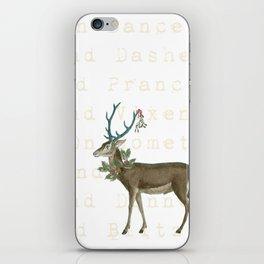 Artsy Christmas reindeer iPhone Skin
