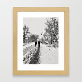 Somerville Snow Storm Framed Art Print