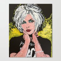 blondie Canvas Prints featuring Blondie by Matt Pecson