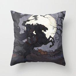 The Headless Horseman Throw Pillow