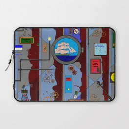 A Nautical Style Below Deck Port Hole Laptop Sleeve