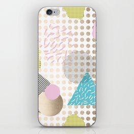 Simply Metallic Memphis Dots iPhone Skin