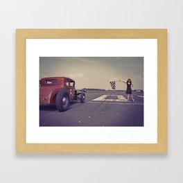 Hot Rod Racing Framed Art Print