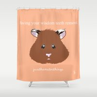 hamster Shower Curtains featuring Hamster by quackso