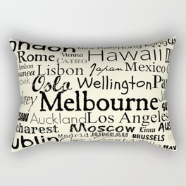 Cities of the World BucketList Rectangular Pillow