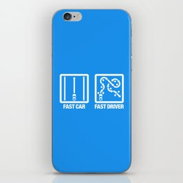 Fast Car - Fast Driver v4 HQvector iPhone Skin