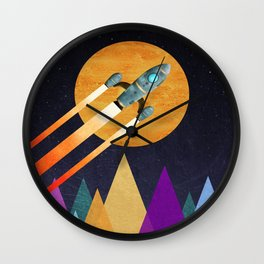 Rocket  2nd Star to the right  LLAP Wall Clock