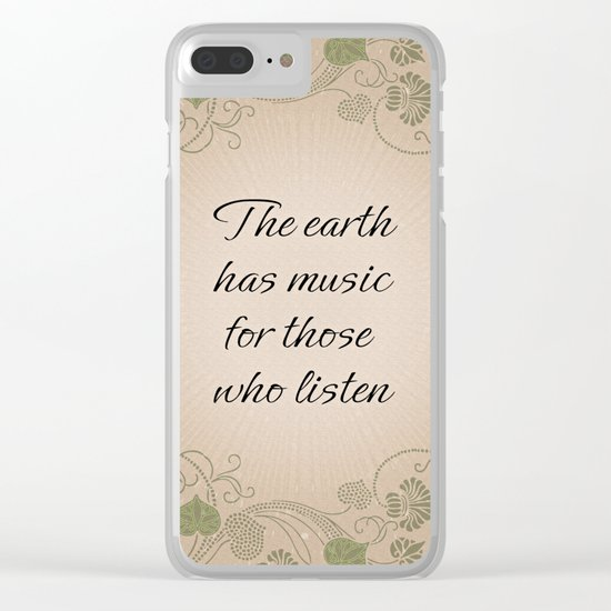 Earth Music Clear iPhone Case