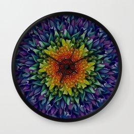 Rainbow Bloom Wall Clock