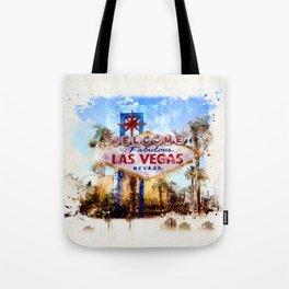 Las Vegas watercolor Tote Bag