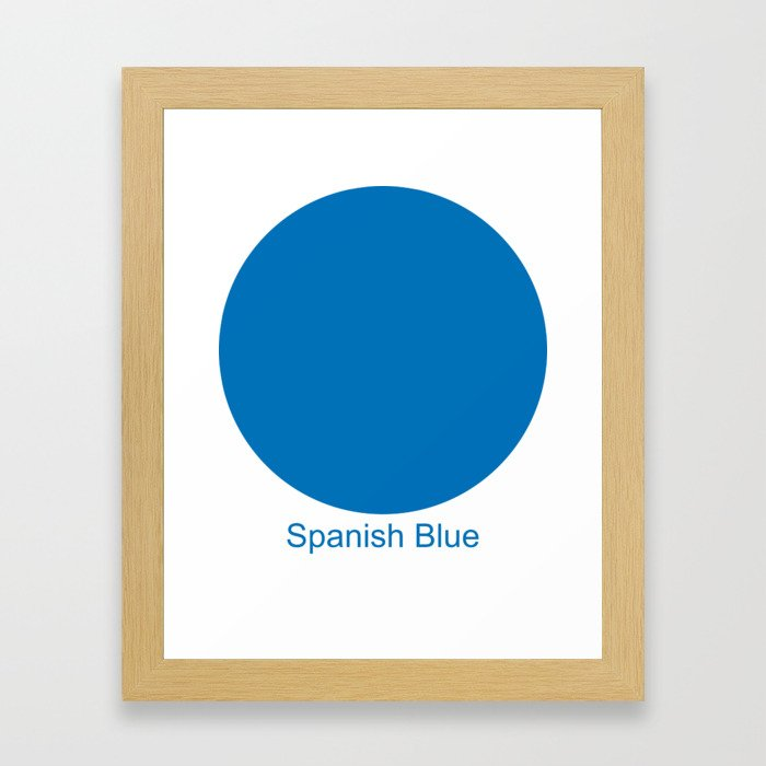 Spanish Blue Framed Art Print