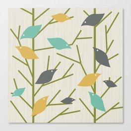 Mid Century Modern Birdsong Canvas Print