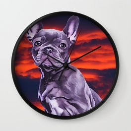 Frenchie The French Bulldog Wall Clock