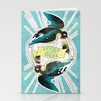 swallow Stationery Cards featuring Swallow by Chiara Sgatti