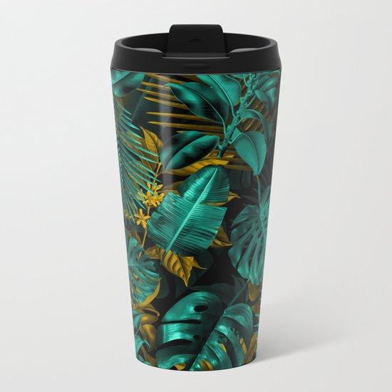 TROPICAL GARDEN VII Metal Travel Mug