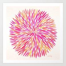 Watercolor Burst – Pink Ombré Art Print
