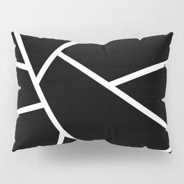 Black and White Fragments - Geometric Design II Pillow Sham