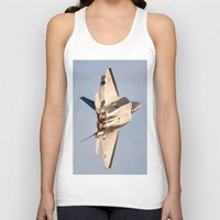 aviation Tank Tops featuring Aviation F-22 Raptor Air Show USAF by Aviator