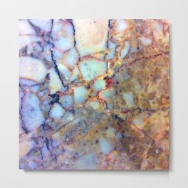marble effect 007 (blue) Metal Print