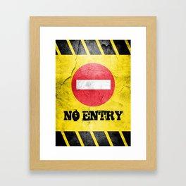 Grunge No Entry Sign Framed Art Print