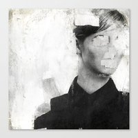number Canvas Prints featuring Faceless | number 01 by FAMOUS WHEN DEAD