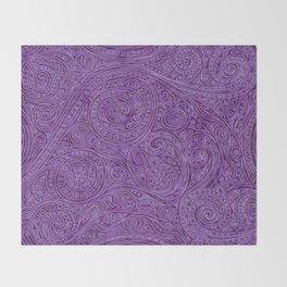 Lavender Spiral Pattern Throw Blanket