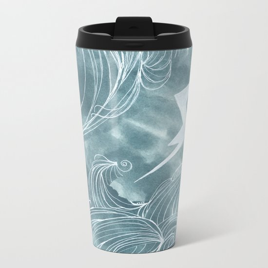 The wave in a bubble Metal Travel Mug