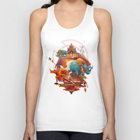 stone Tank Tops featuring rhinos stone by Tanya_tk