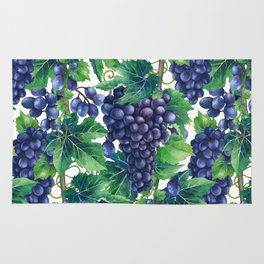 Watrercolor grapes Rug