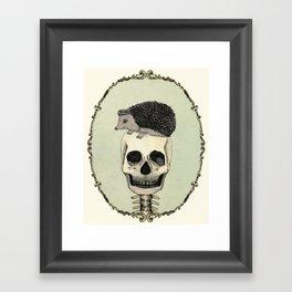 Yojik On A Skull Framed Art Print
