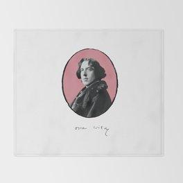 Authors - Oscar Wilde Throw Blanket
