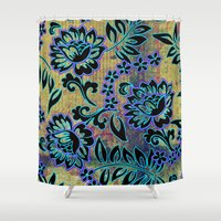 tiki Shower Curtains featuring Tiki Dance by Vikki Salmela