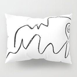 Pablo Picasso Face Looking Up Line Artwork For Prints Tshirts Posters Bags Men Women Youth Pillow Sham