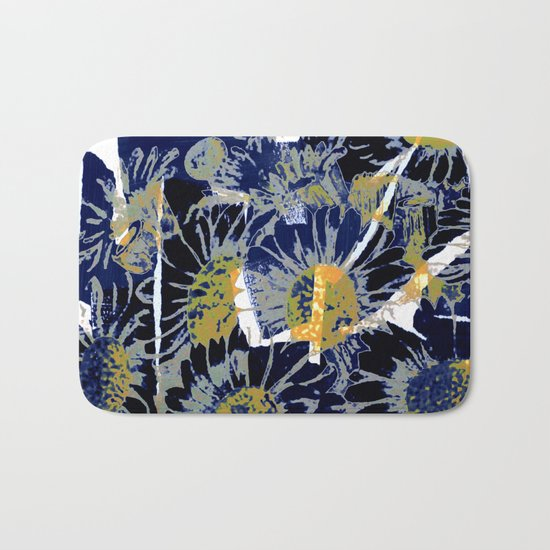 daisies on astract bakground Bath Mat