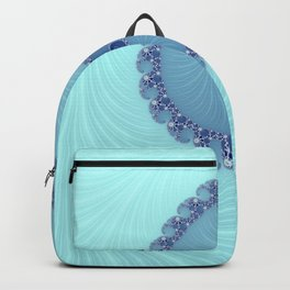 Blue Loop - Fractal Art  Backpack