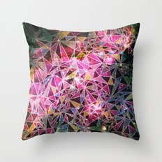 Space Triangles Throw Pillow