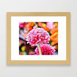 Pink Flowers Airbrush Artwork Framed Art Print