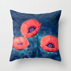 Poppy trio Throw Pillow