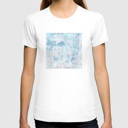 Graffiti dream - blue and nude T-shirt
