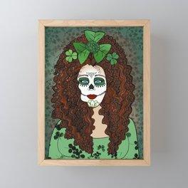 Caitriona Celebrates Samhain and the Day of the Dead Framed Mini Art Print