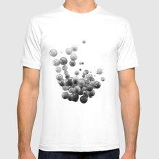 Orbs MEDIUM White Mens Fitted Tee