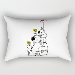 Papa Bear & Baby Bear Rectangular Pillow
