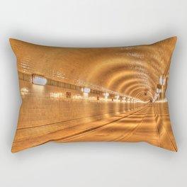 Old Elbtunnel in Hamburg, Germany Rectangular Pillow