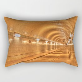 Old Elbtunnel in Hamburg, Germany Rectangular Pillow