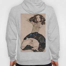 Egon Schiele - Black-Haired Girl with Lifted Skirt Hoody