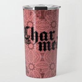 Charmed (goth, gothic typography) Travel Mug
